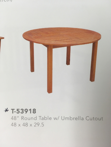 48 Round Outdoor Table Oiled Acacia Stock Only 99