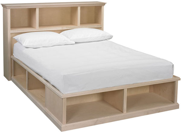 Roma Queen Cubby Bed With Bookcase Headboard And Foot