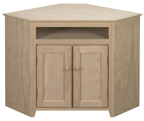 Oak Corner Cabinet With Opening Bare Woods Furniture