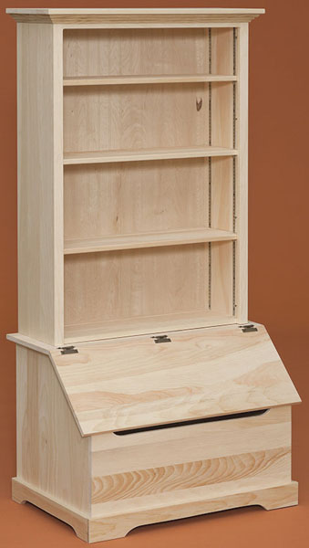 David Riehl Furniture: Pine Country Bookshelf With Chest