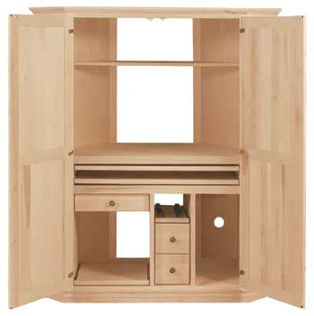 Exceptionnel Corner Computer Armoire, Available In Pine, Maple U0026 Oak