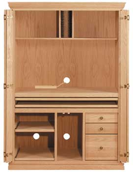 Computer Armoire, Available In Pine, Maple U0026 Oak