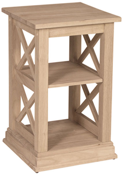 parawood hampton accent table bare woods furniture real wood