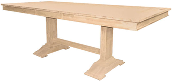Parawood Trestle Table Top And Trestle Table Base Bare