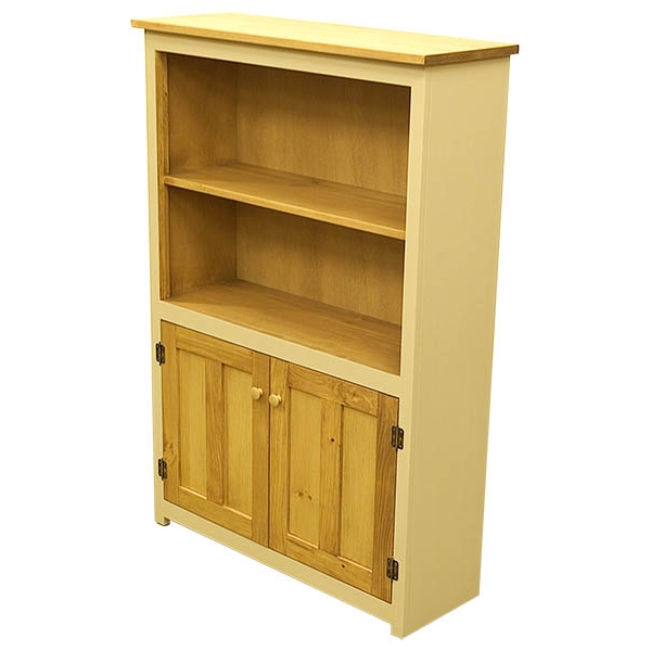 Bookcase With Doors Bare Woods Furniture Real Wood