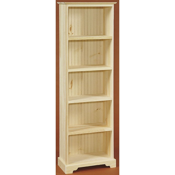Pine Lancaster Bookshelf | Bare Woods Furniture | Real Wood Furniture  Finished Your Way