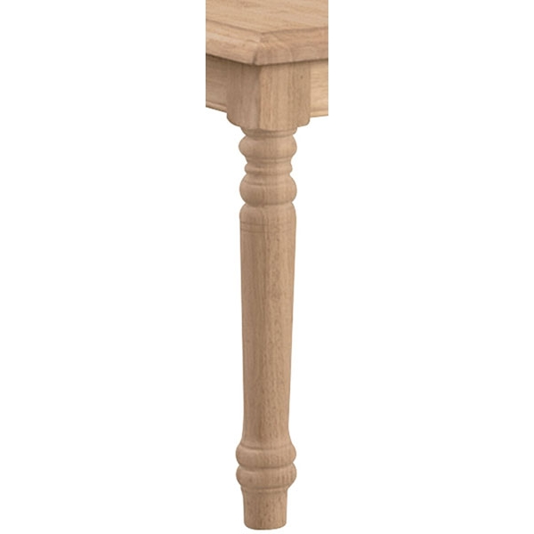 Parawood 36 Inch High Thick Turned Table Legs