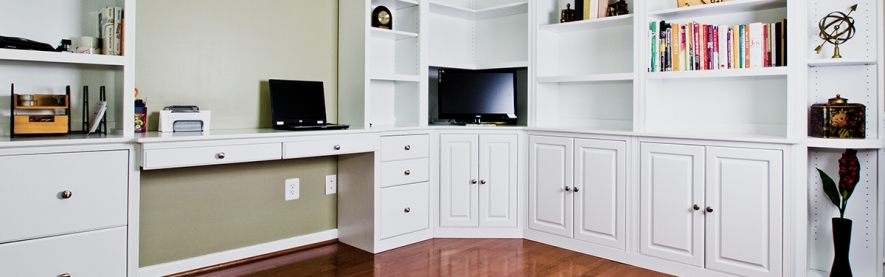 Wall units, custom building, built ins, bookcases, custom office, Arthur Brown